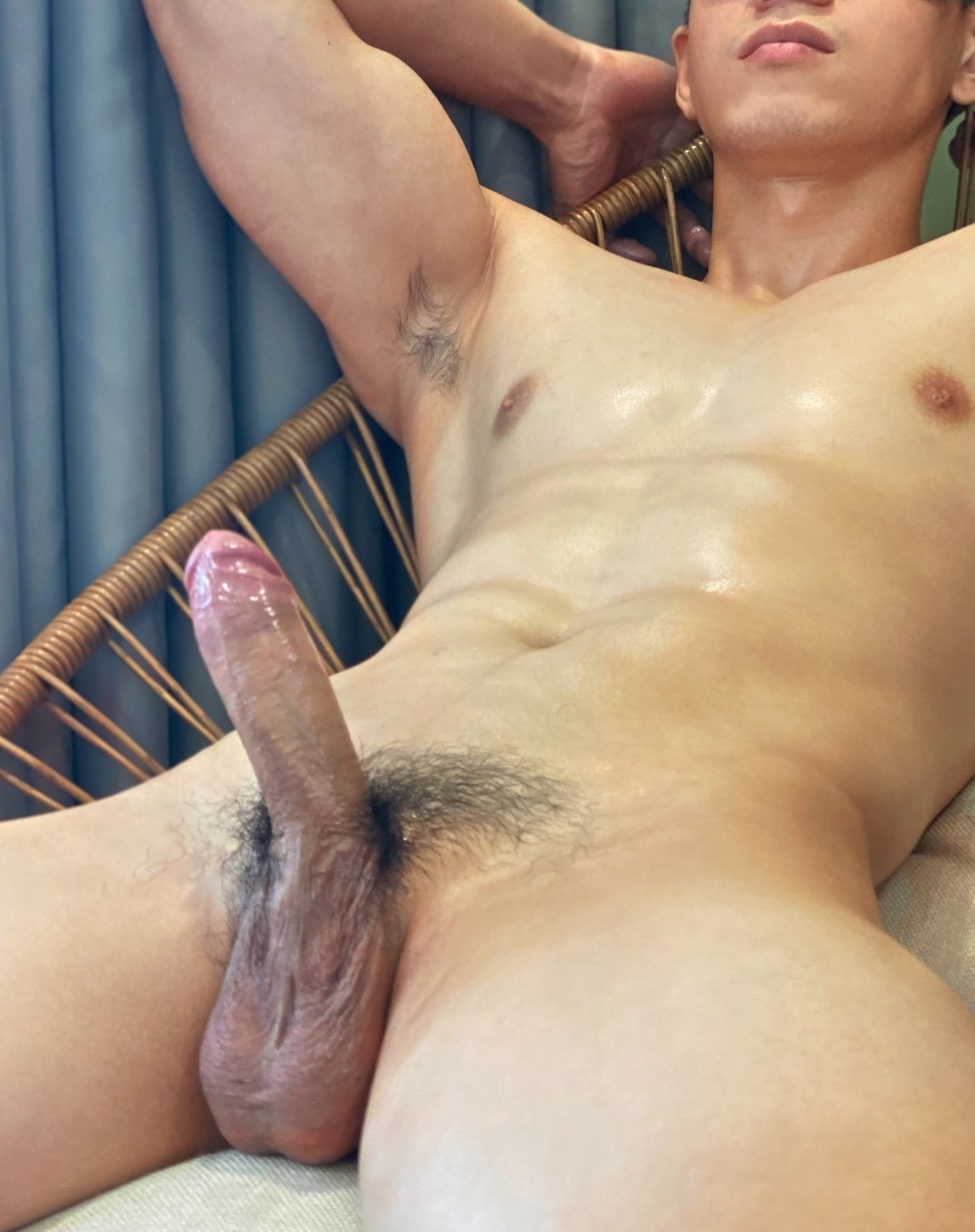 Dick and a muscular body