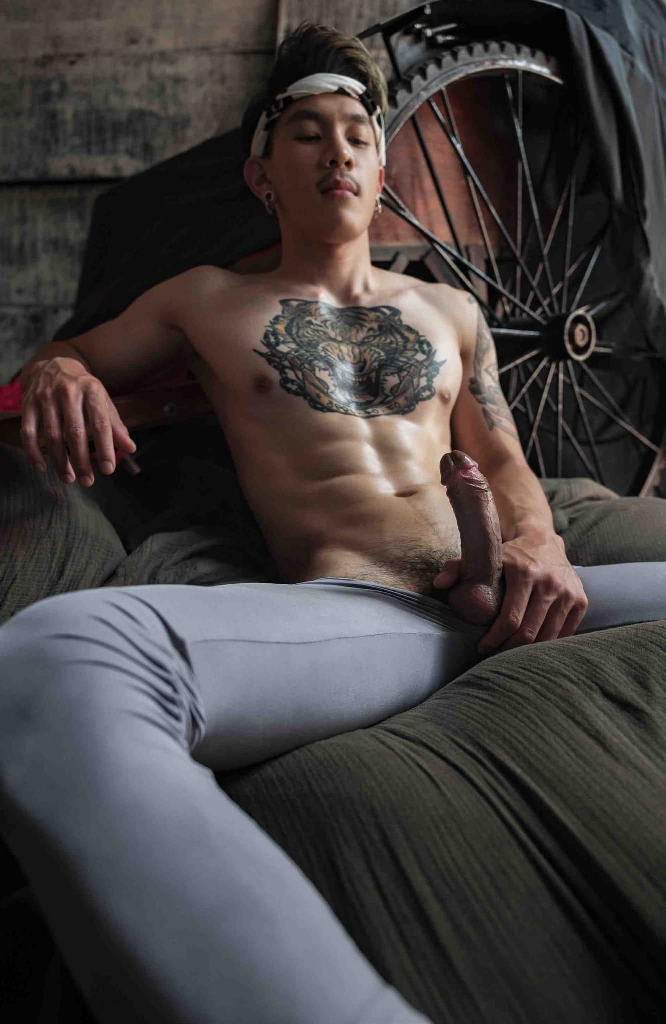 Hard cock and tight pants