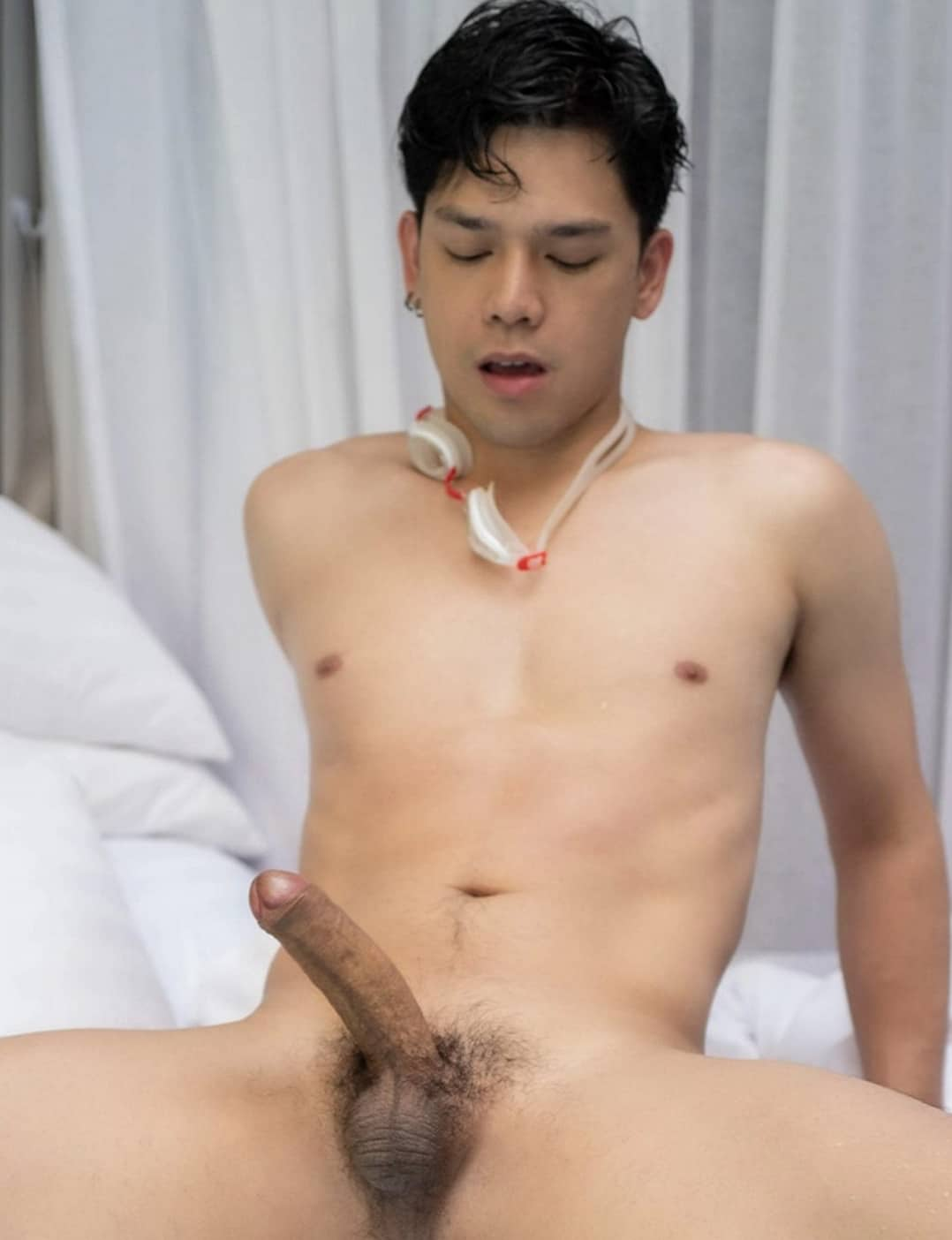 Hard cock with small balls