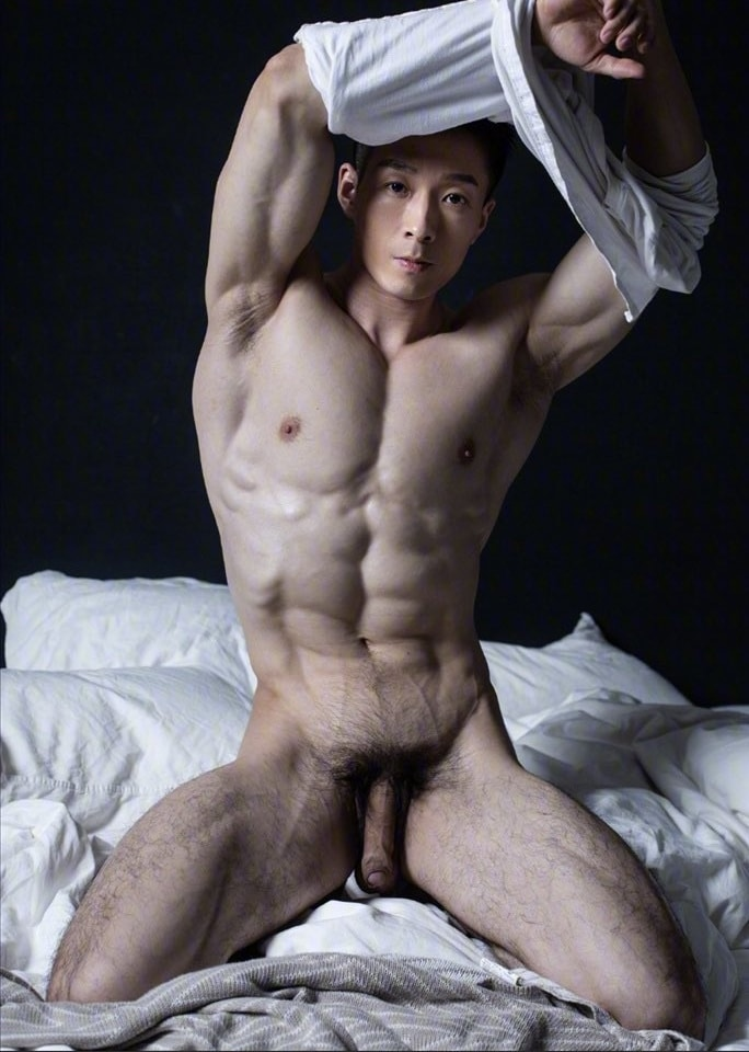 Hunk with a long soft cock