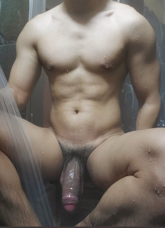 Hunky Asian with a big penis