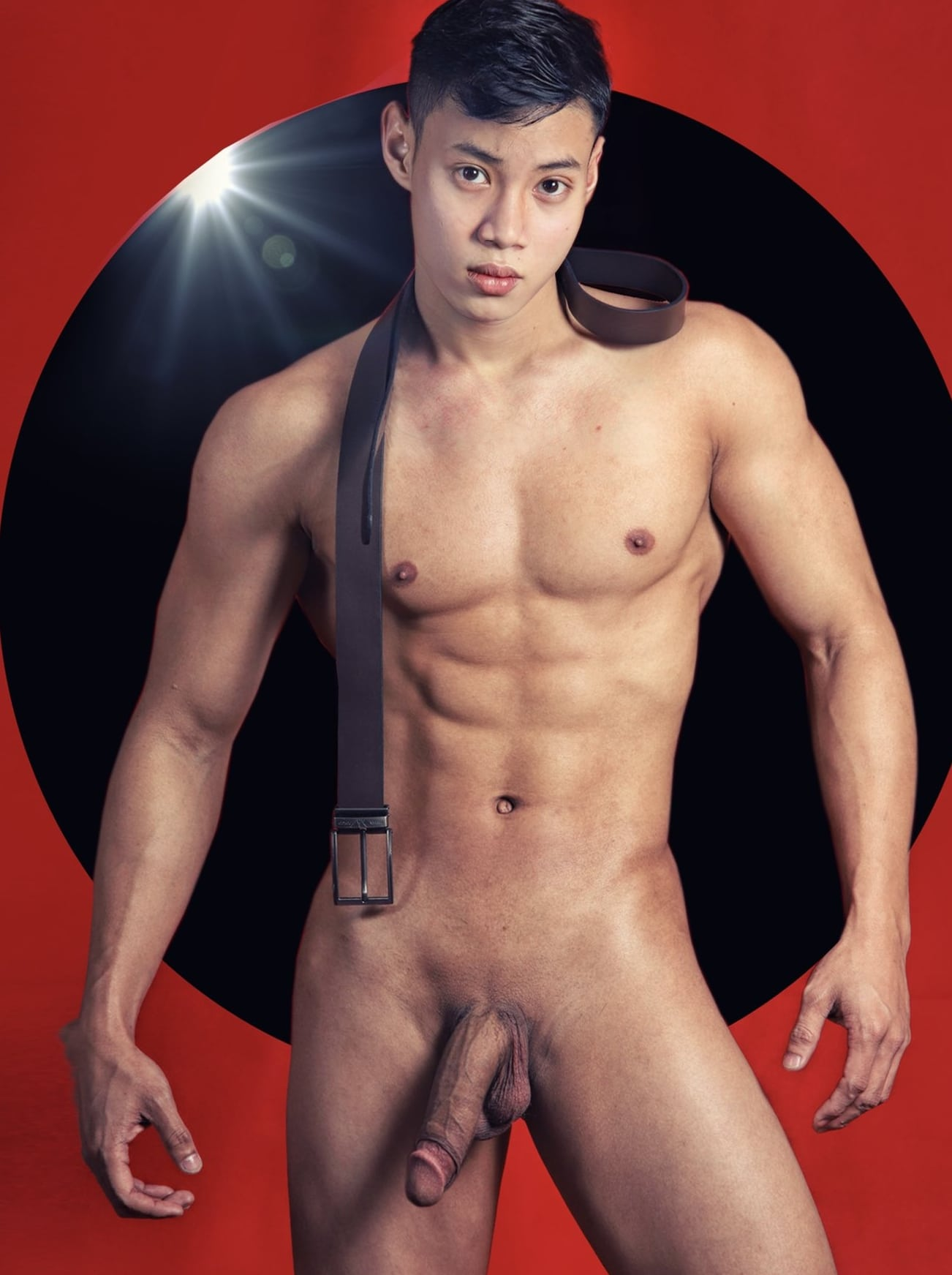 Hunky Asian with a big cock