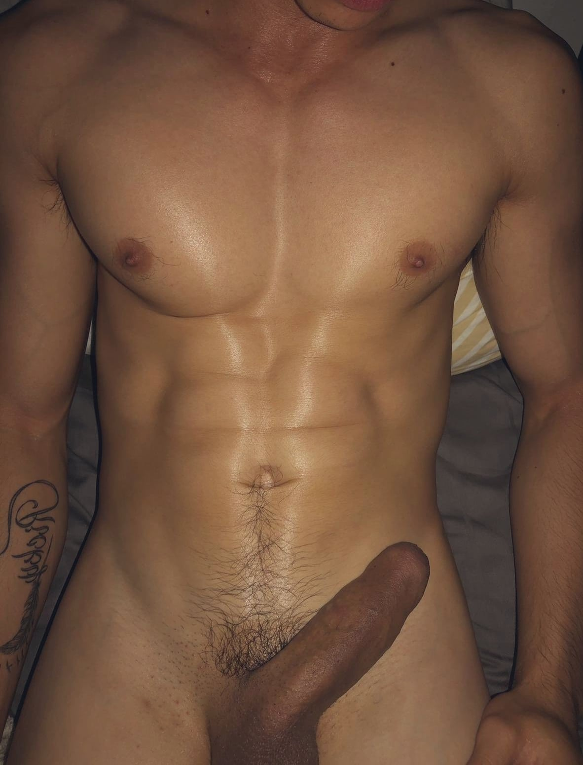 Muscle boy with boner