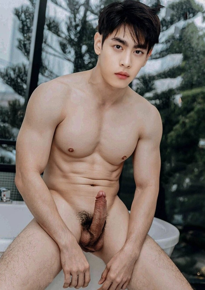 Muscle boy with stiff dick